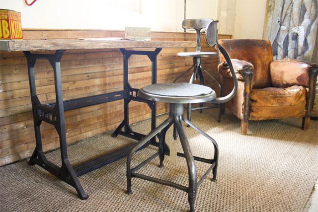 Chaise d'atelier Nicolle vintage