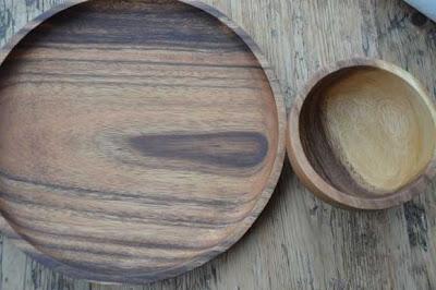 DIY taartstandaard van acaciahout