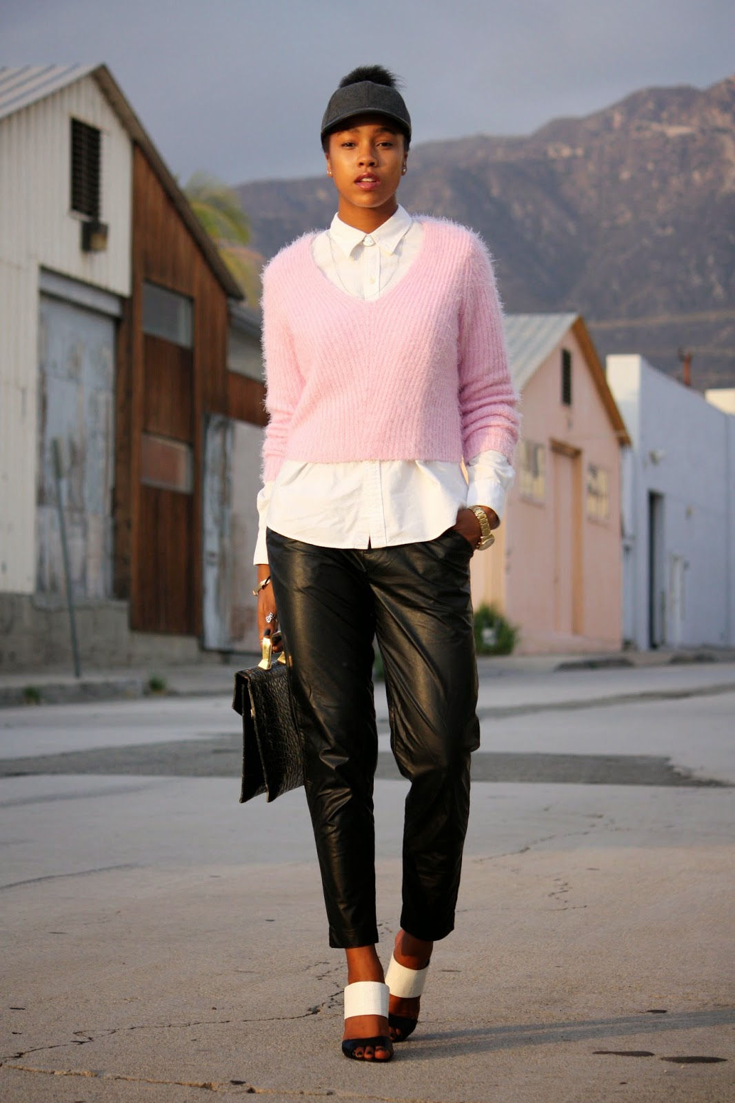 Marquise C Brown fashion style blogger Honey In My Heels Think Pink