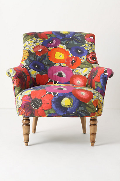 Young Sophisticates: Get the Look: Floral Print Chair