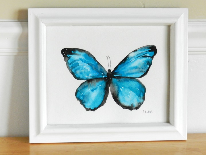 Easy Watercolor Paintings Of Butterflies This time I tried painting