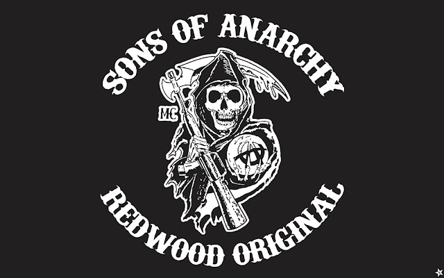 son of anarchy logo redwood original black and white