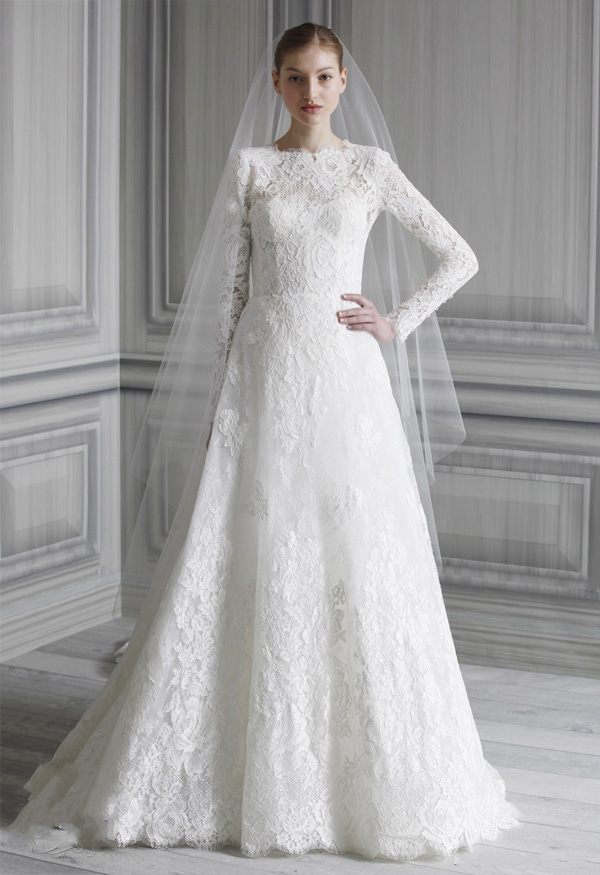 Long Wedding Dresses with Sleeves