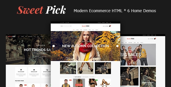 download Sweet Pick Modern E-commerce HTML Template