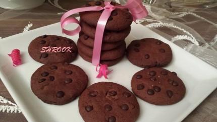 موقع الذ وصفات الطبخ: كوكيز الشوكولاتة بحبيبات الشوكولاتة السوداء