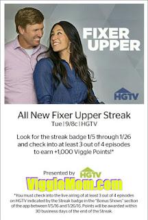 Fixer Upper, HGTV, Viggle, Perk, Viggle Mom, SnapMaster