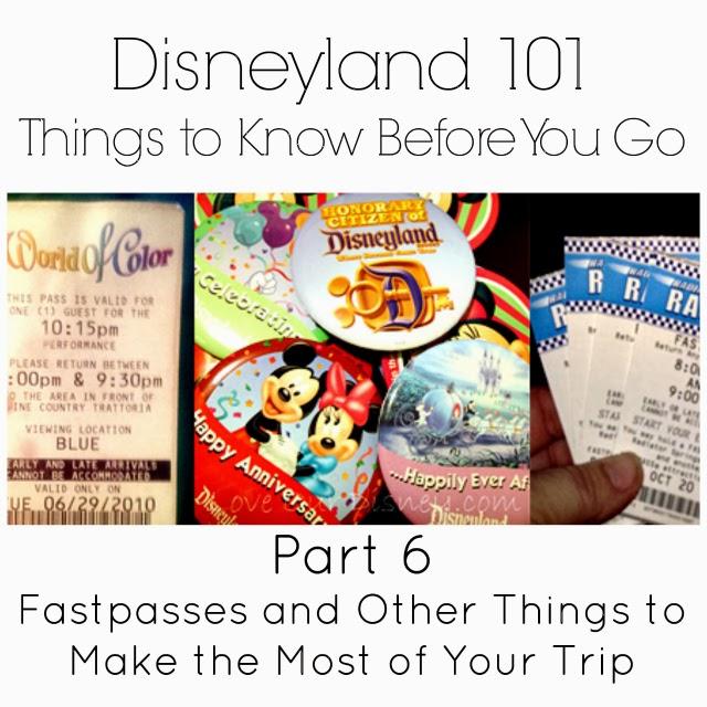 Disneyland 101 fastpasses and riderswap