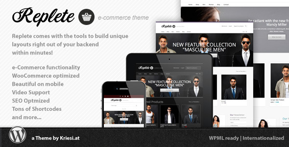 ThemeForest - Replete e-Commerce and Business