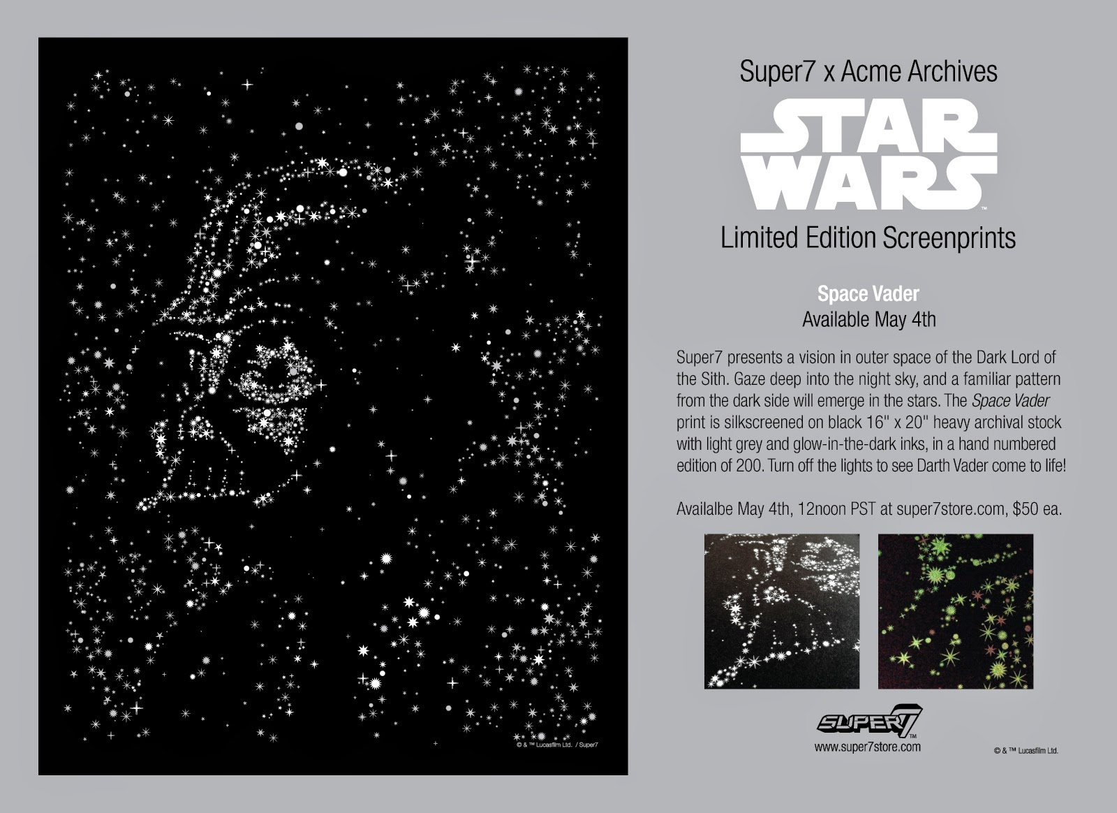 "Super7 x Acme Archives ""Space Vader"" Star Wars Screen Print"