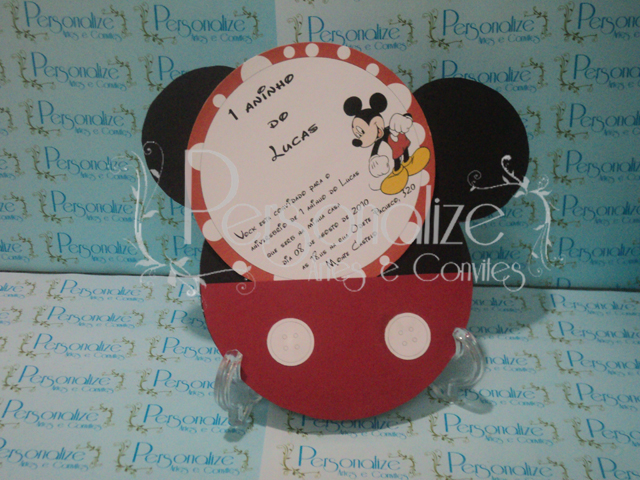 Personalize   Artes E Convites  Posted In Convites   Infantil   Mickey