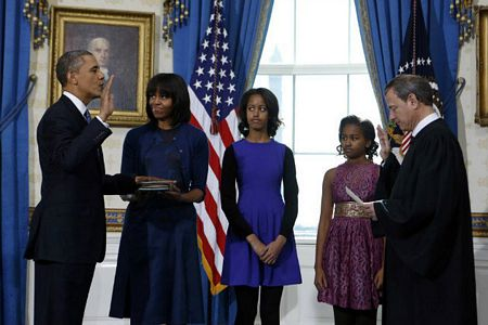 Obama became the first president sworn in four times