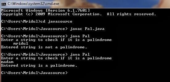 Write a c program for palindrome