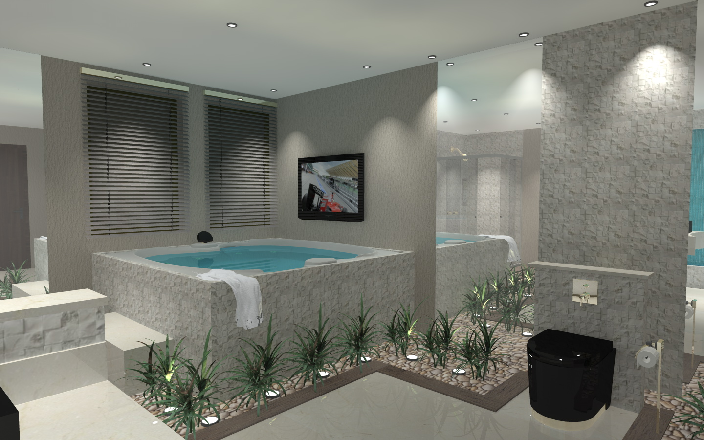 createdthis bathroom with all possible refinements virtually a SPA  #43777C 1440 900