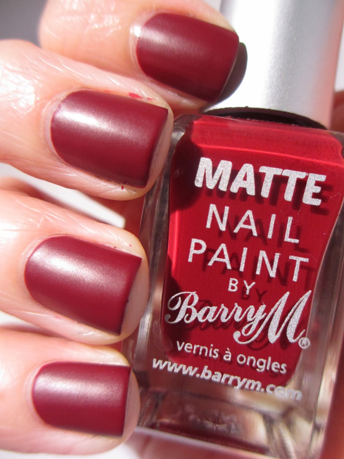 Matte Nail polish Barry M Crush swatch