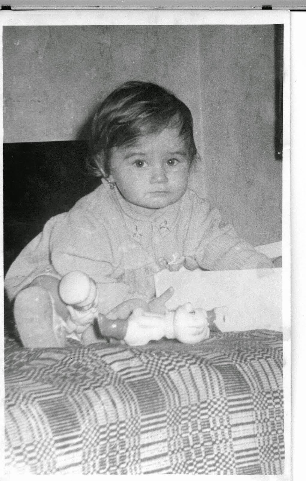 Olivia Maria Marcov 1968 1969 in Str Sebastian Bucharest Romania la bunica mea Jeana Mardale