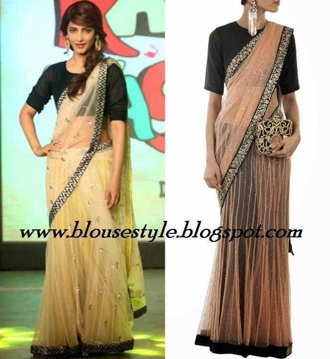Indian actress sruthi hasan in saree photos