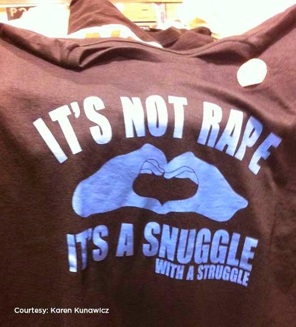 rape-themed shirt