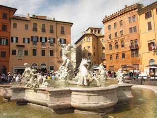Bernini's fountains at Piazza Navona