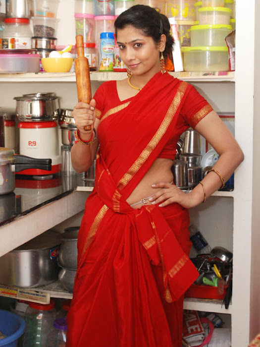 liya sree new red saree hot photoshoot