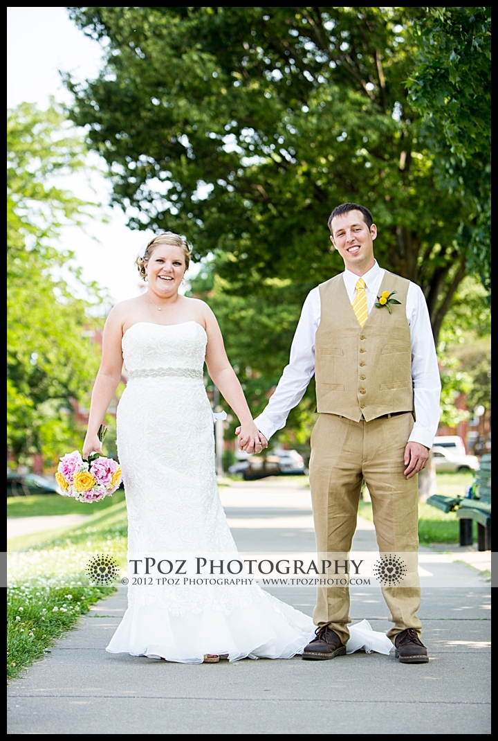 federal hill park wedding portrait