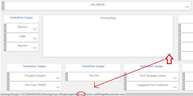 Cara Membuat Widget/Kolom/Elemen Dibawah Header/Diatas Postingan