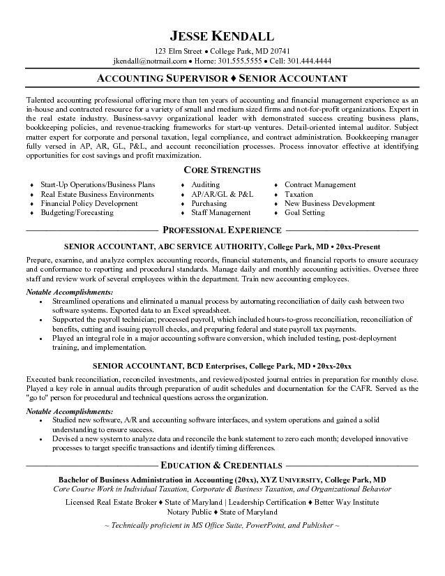 Accountant Resume Examples