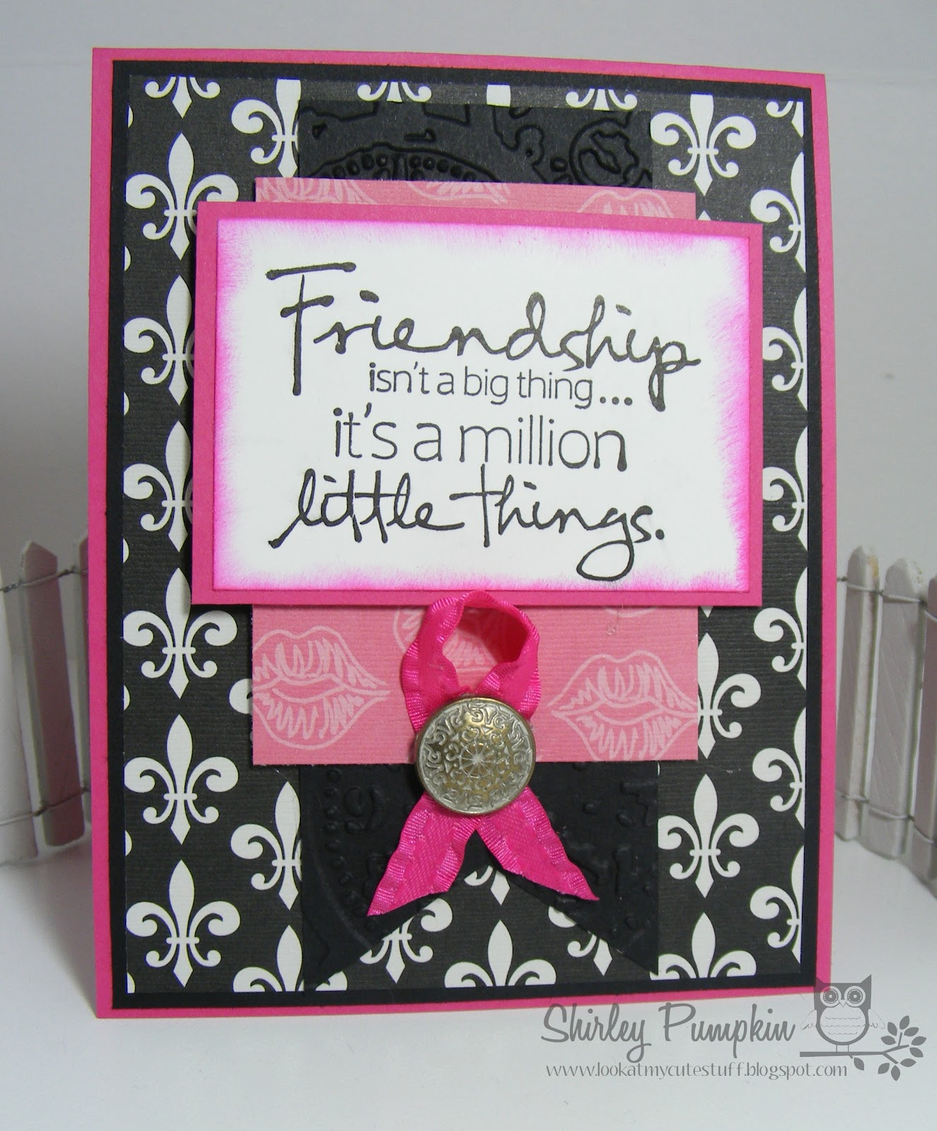Good How To Make Friendship Cards Part - 9: Friendship Card For ISpy Sketches With Ooh La La! Paper From The Paper  Studio