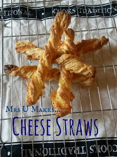 Mrs U Makes...Cheese Straws, a quick and easy after school #treat @MrsUMakes