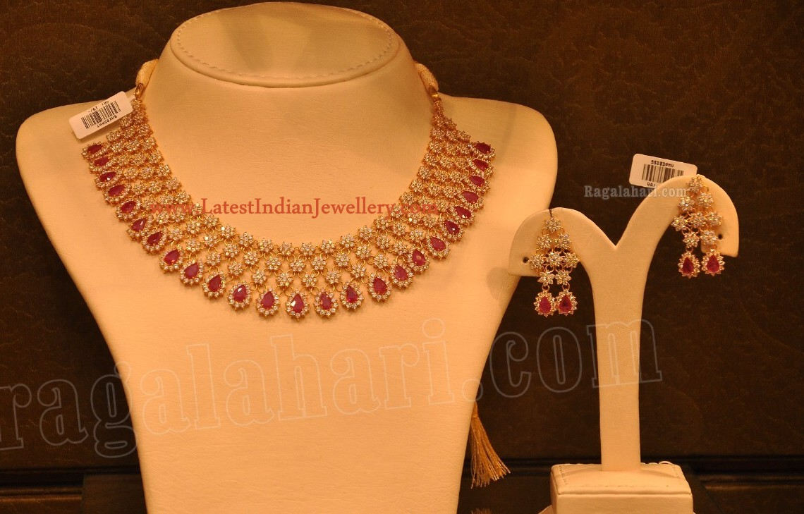 Latest Ruby CZ Necklace Sets Gallery