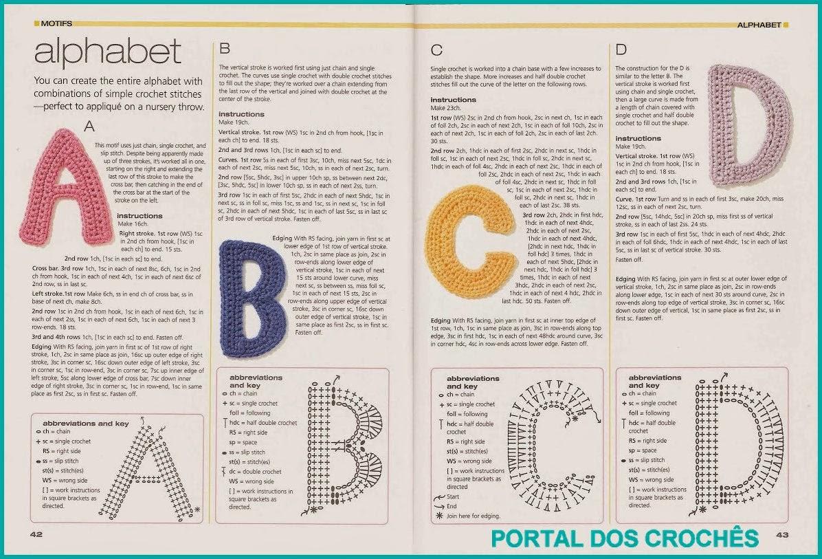 Схема вязания буквы а 57