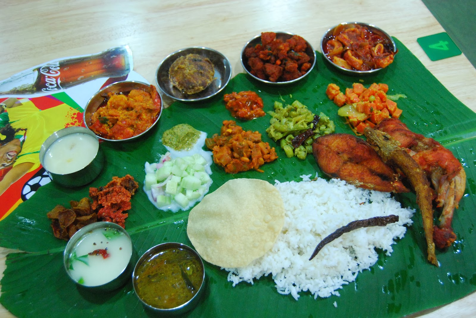 Malaysian indian food restaurant banana leaf rice for Authentic south indian cuisine