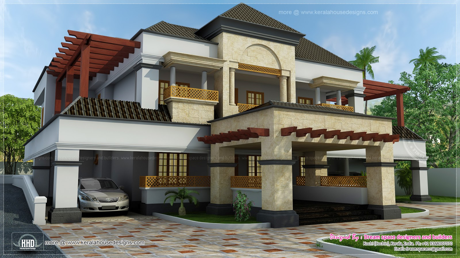 ... fusion mix with Arabic style home - Kerala home design and floor plans