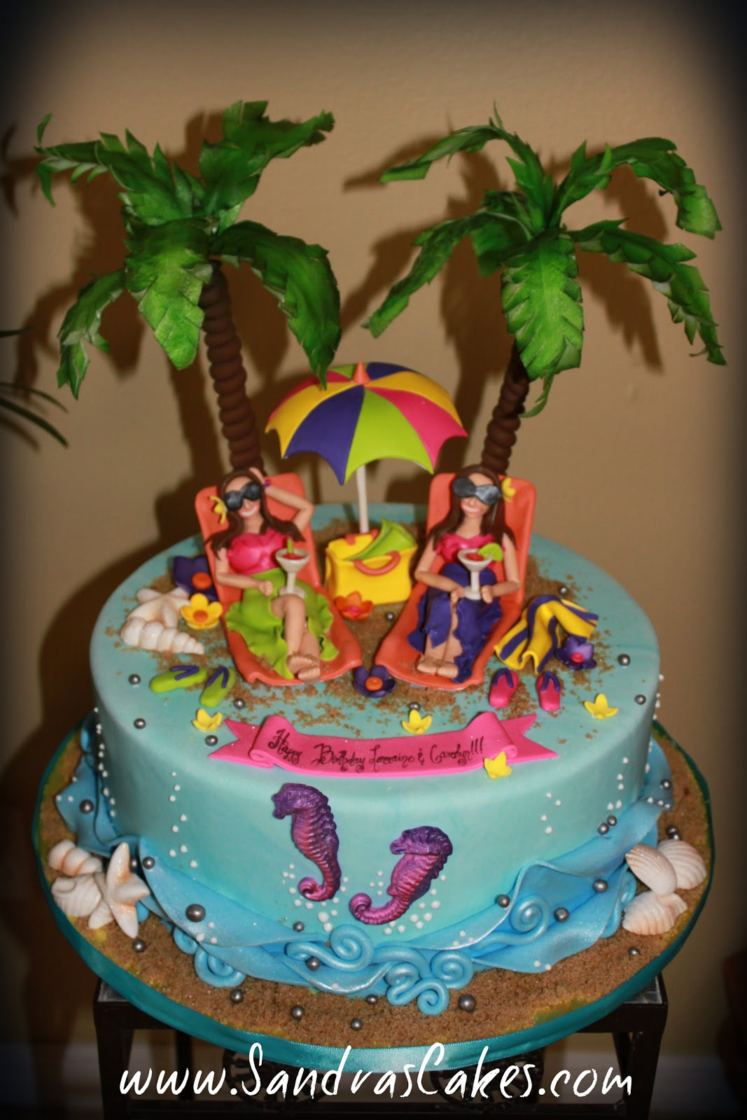 Beach Themed Th Birthday Cakes