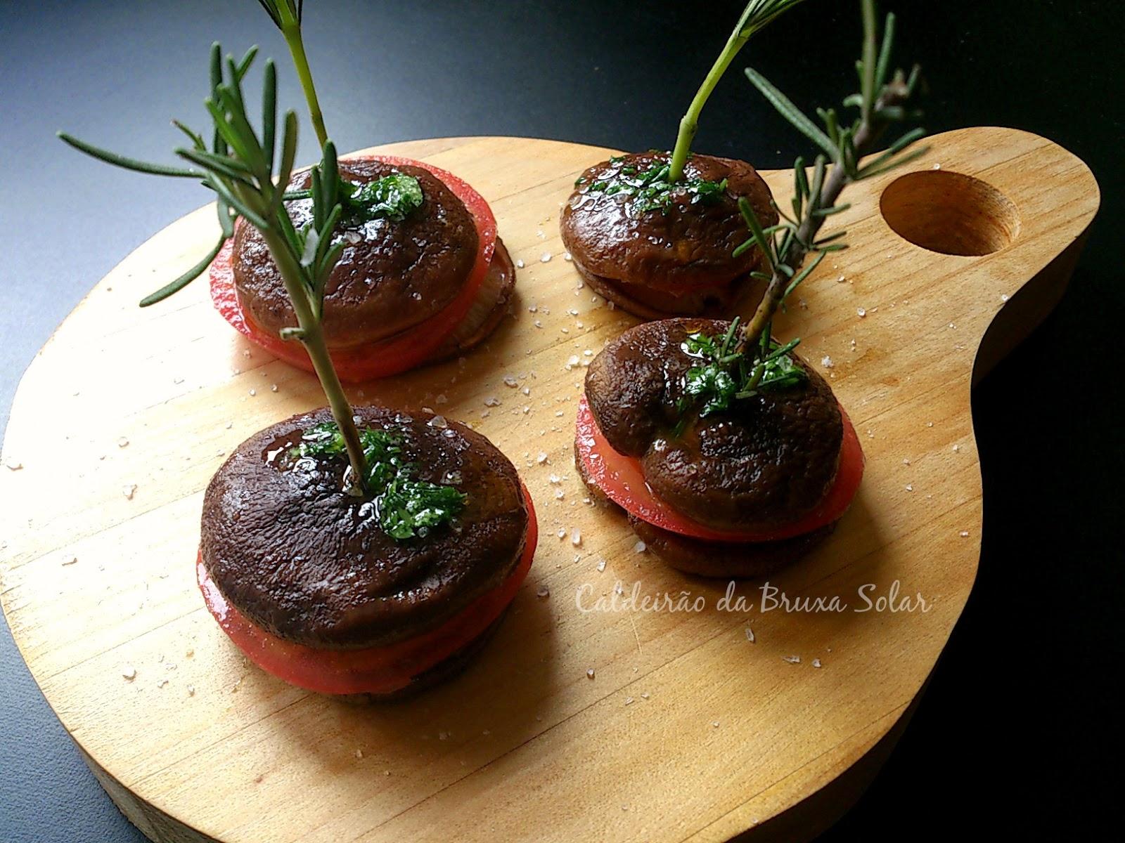 Macarons de cogumelo shitake