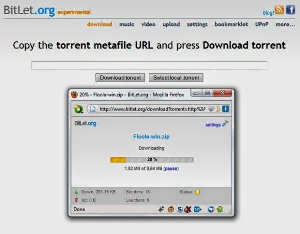 Bitlet aplikasi pengganti aplikasi BitTorrent Client