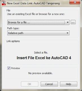 Insert File dari Microsoft Excel ke AutoCAD.