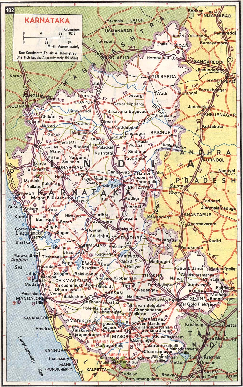 Karnataka India Road Map