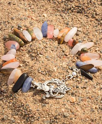 FSH002alt1 lg - Stone Dragonfly Necklace: Beachy Beautiful