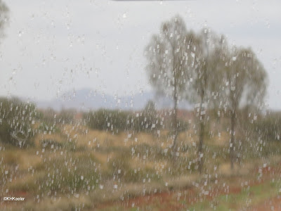 rain on the windshield, Yulara, the Red Centre of Australia