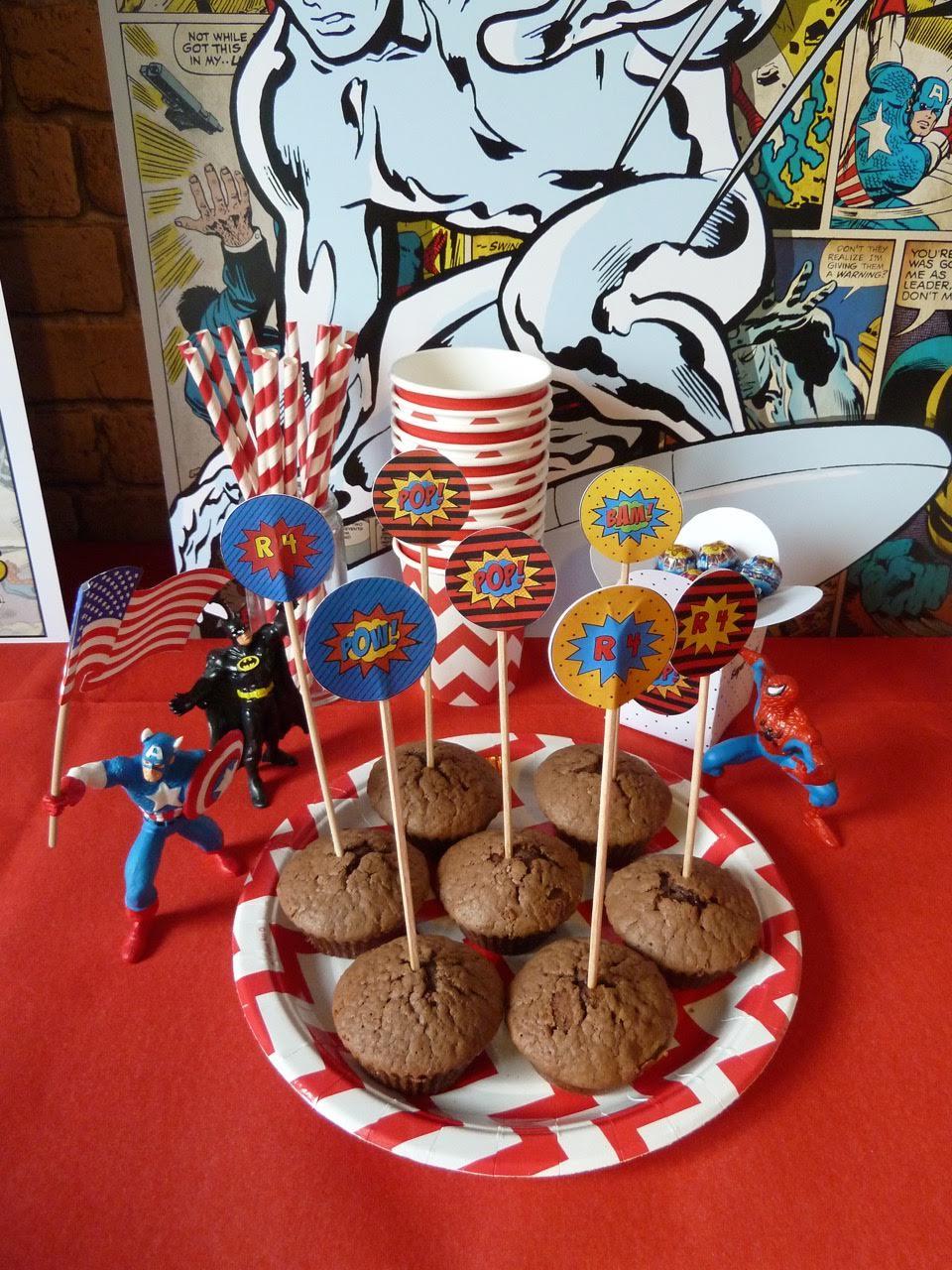 muffins chocolats super héros