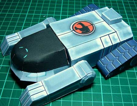 Thundercats Tank on Papercraft   Thundercats Thundertank   Papercraft4u   Free
