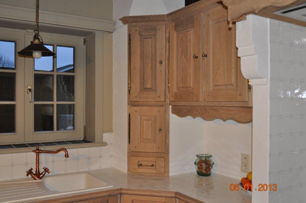 Keuken Zandstralen : eken keuken na zandstralen, beitsen en vernissen