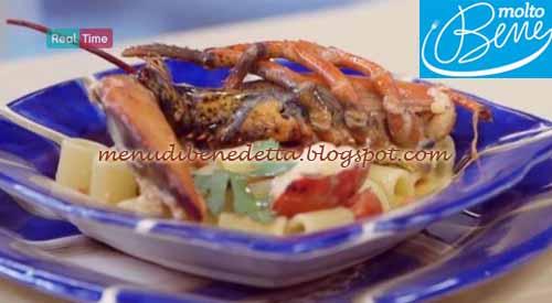 Mezze maniche con astice e burrata ricetta Parodi per Molto Bene