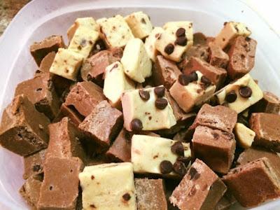 white chocolate peppermint protein fudge