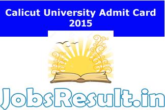 Calicut University Admit Card 2015
