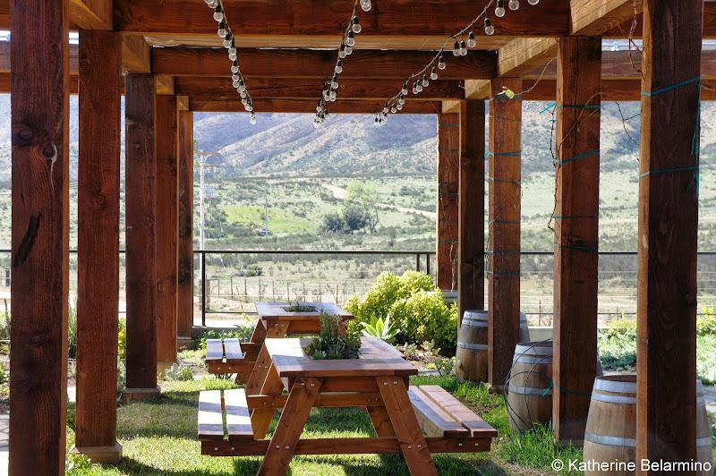 Finca La Carrodilla's Garden Balcony Valle de Guadalupe Baja California Mexico