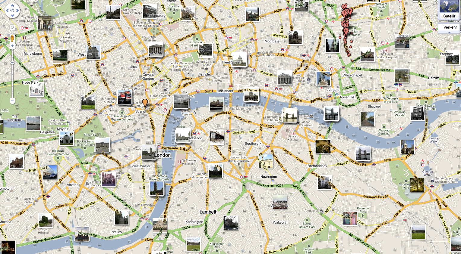 London tourist map – Map Of Central London For Tourists