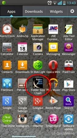 Cara Cek Kapasitas Folder Android