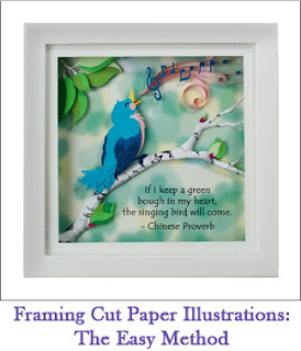 Tickled by the Creative Bug - Framing Cut Paper Illustrations: The Easy Method: Link to blog post
