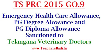 EHC,PG Degree,Diploma Allowances,Veterinary Doctors
